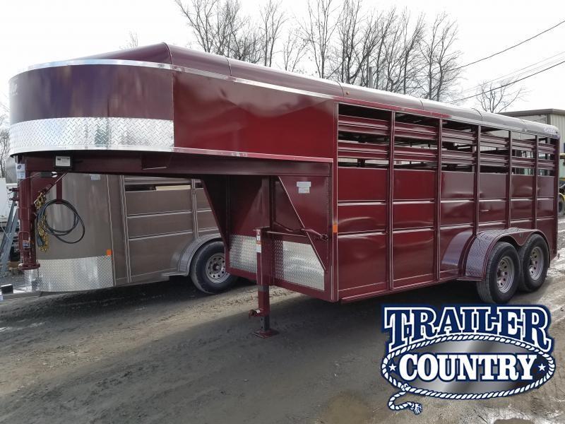 2018 Delta Manufacturing 500 ES GOOSENECK STOCK Horse Trailer