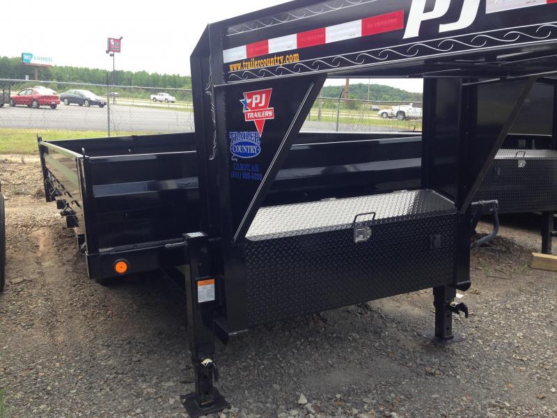 "96x16 PJ GN Deckover Dump Trailer-10"" I-Beam-Tarp"