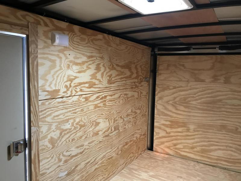 6x12 Enclosed Cargo Trailer-White-Ramp Door-CLEARANCE