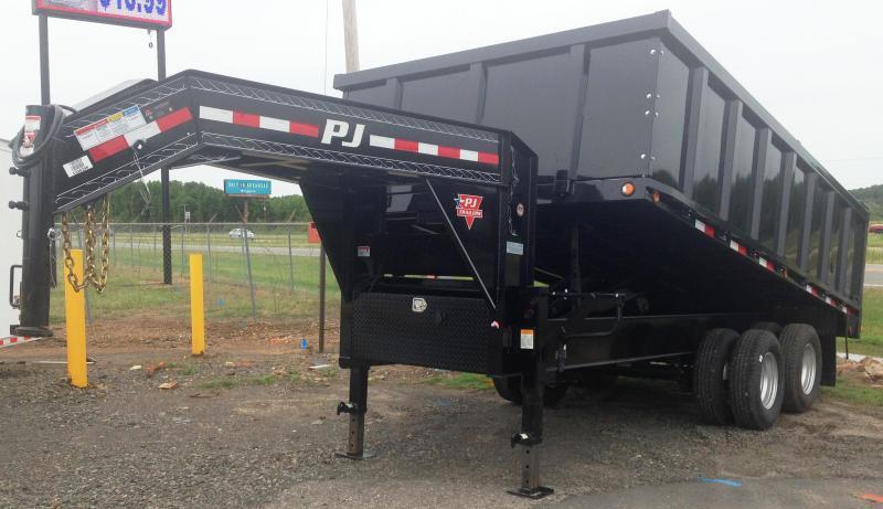 96x16 PJ Gooseneck Dual Tandem Dump Trailer