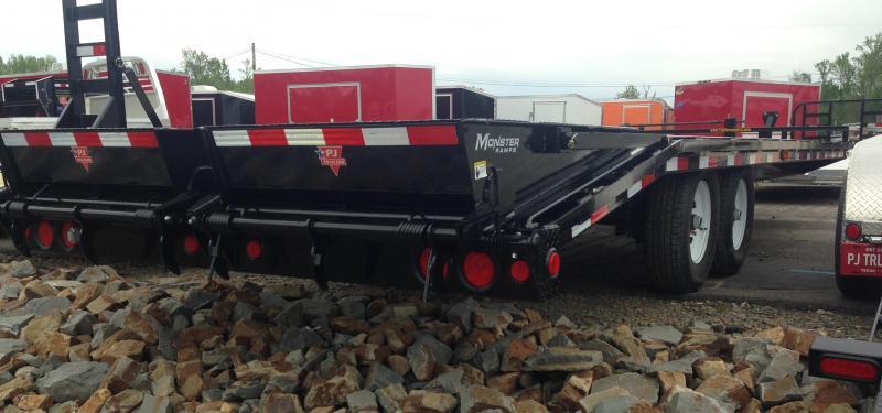 96x24 PJ Deckover Equipment Trailer-Monster Ramps-CLEARANCE