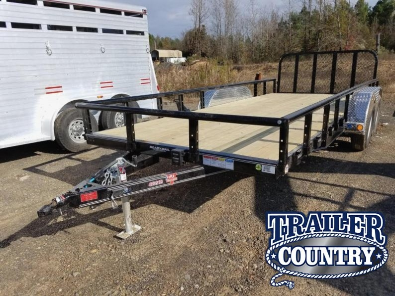 "83x18 PJ Utility-3500lb Axles-16"" Dovetail-3' Fold Up Gate-Pipetop"