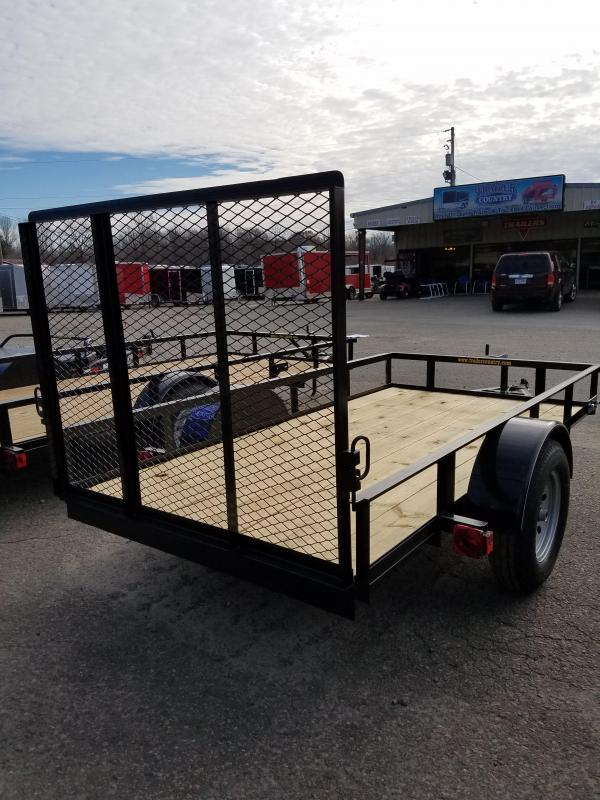 5x10 Precision Utility-3500lb axles Rear Gate Spare Tire Mount