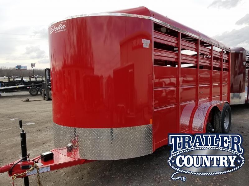 2018 Delta Manufacturing 500 ES BUMPER STOCK Livestock Trailer