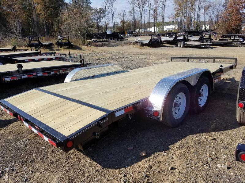 83x18 PJ Carhauler Trailer-3500lb Axles-2' Dovetail-5' Slide In Ramps-Spare Tire Mount