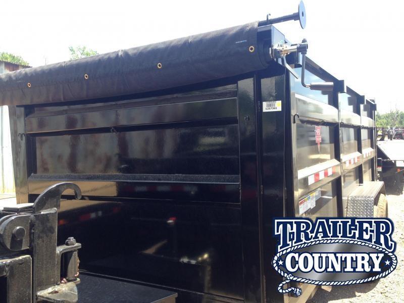 83x16 PJ High Side Dump XL Trailer-4' Side-Tarp Included