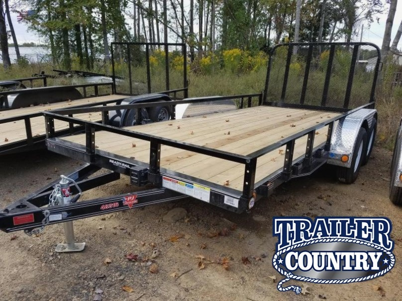 83x16 PJ Utility Trailer-Rear Gate