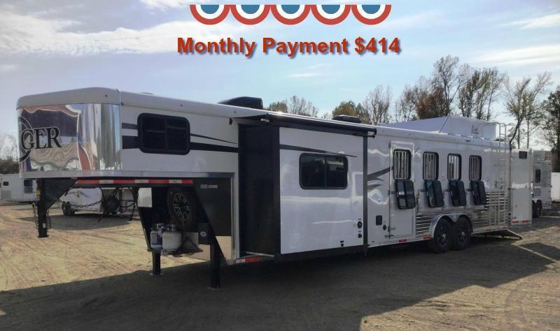 2017 Bison Trailers 2017 BISON 8414RG 4H RANGER 14' SHORTWALL WITH SLIDE OUT SOFA AND DINETTE