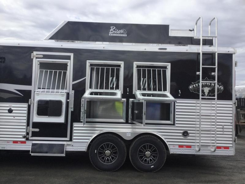 2017 Bison Trailers BISON 8315SV SILVERADO WITH SLIDE OUT Horse Trailer