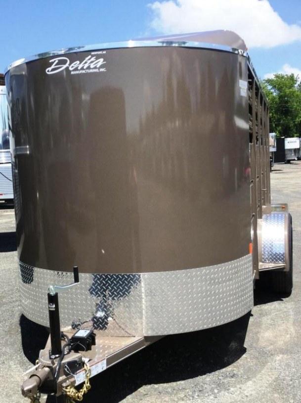 2017 Delta Manufacturing 500ES 16 STOCK BUMPER PULL Livestock Trailer