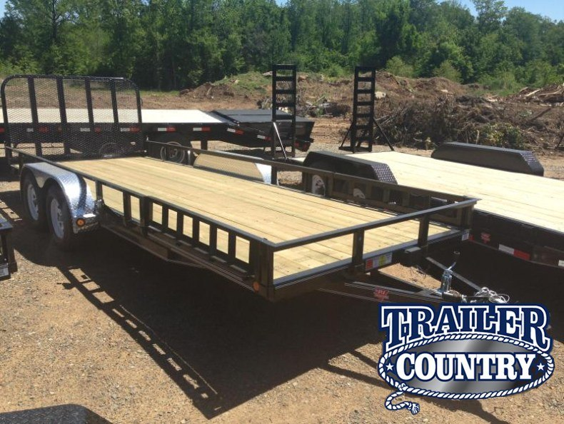 83x20 PJ Utility Trailer-Rear Gate-Side Ramps-CLEARANCE