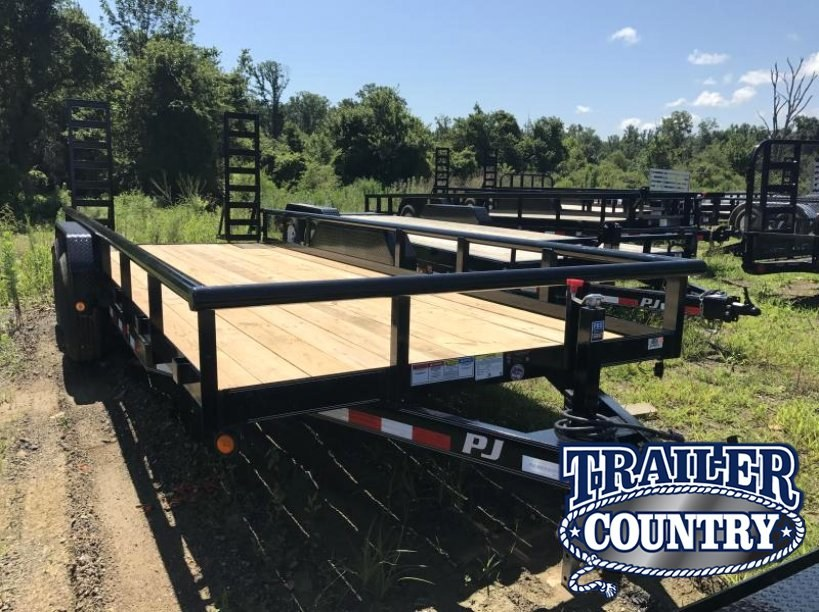 83x20 PJ Angle Pipetop Equipment Trailer-Fold Up Ramps