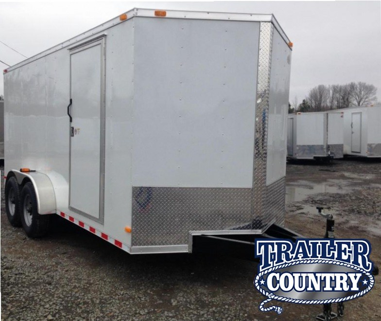 7x16 XXL Cargo Trailer-7K Axles-CLEARANCE