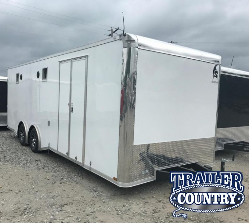 8.5x24 Spartan Enclosed Race Trailer-FULLY LOADED