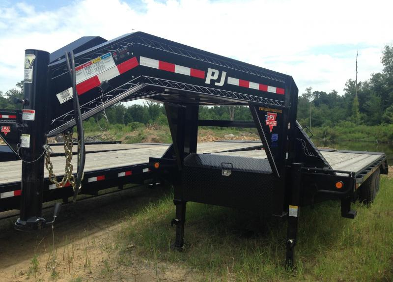 102x25 PJ Gooseneck Flatdeck with Duals-Monster Ramps