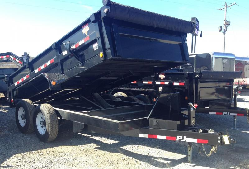 83x14 PJ Dump Trailer-Scissor Lift-Tarp Included