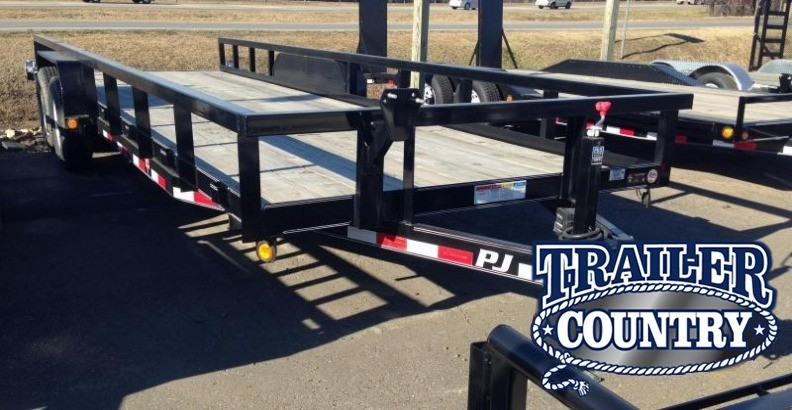 83x24 PJ Angle Pipetop Equipment Trailer-Slide In Ramps