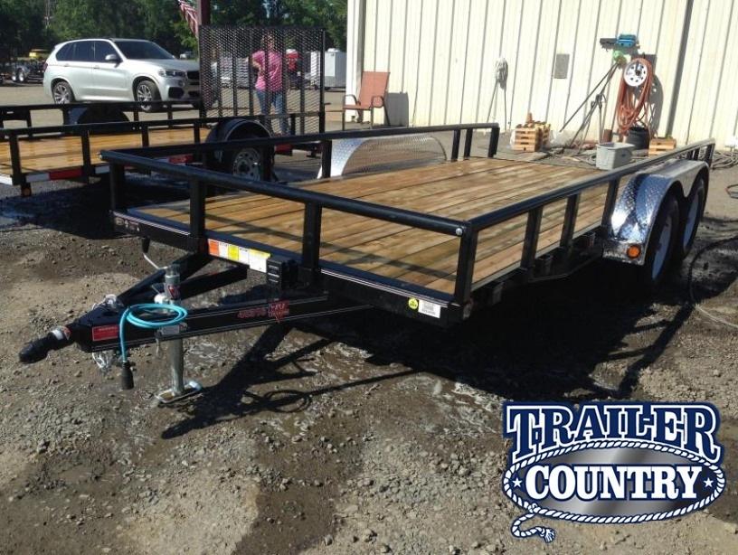 83x16 PJ Utility Trailer-Dovetail-Rear Ramps