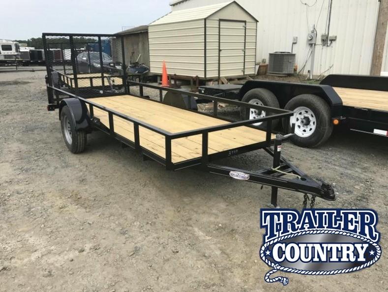 5x14 Precision Utility Trailer-Rear Gate