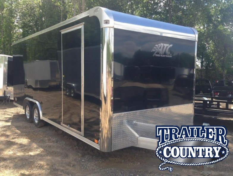 8.5x20 Aluminum ATC Enclosed Carhauler Trailer-CLEARANCE