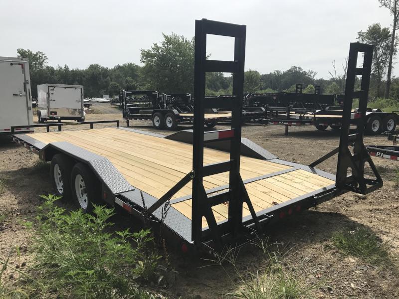 102x20 PJ Buggy Hauler Trailer-Fold Up Ramps