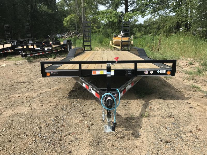 102x20 PJ Superwide Equipment Trailer-Slide In Ramps