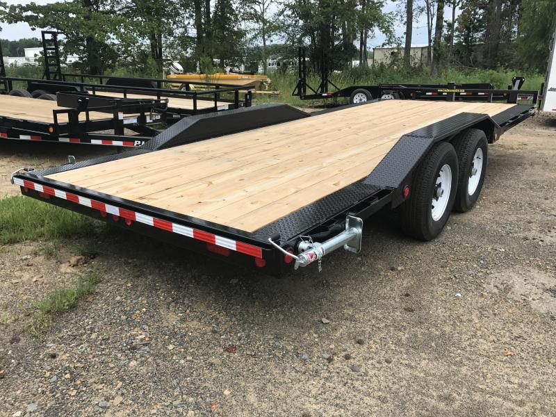 102x20 PJ Superwide Equipment Trailer-Slide In Ramps