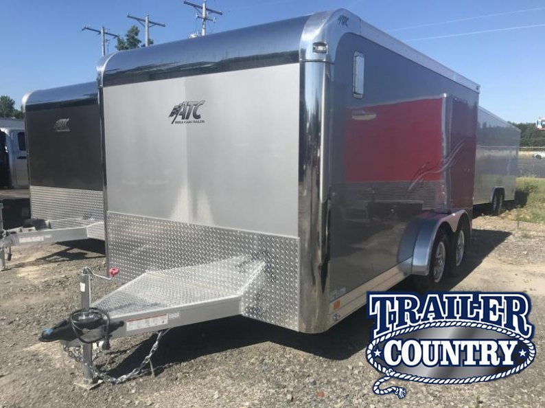 7x14 ATC Aluminum Enclosed Motorcycle Trailer-CLEARANCE