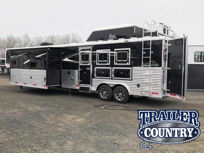 2018 Bison Trailers 8317PR PREMIERE 3 HORSE WITH 17 SHORTWALL SUPER Horse Trailer