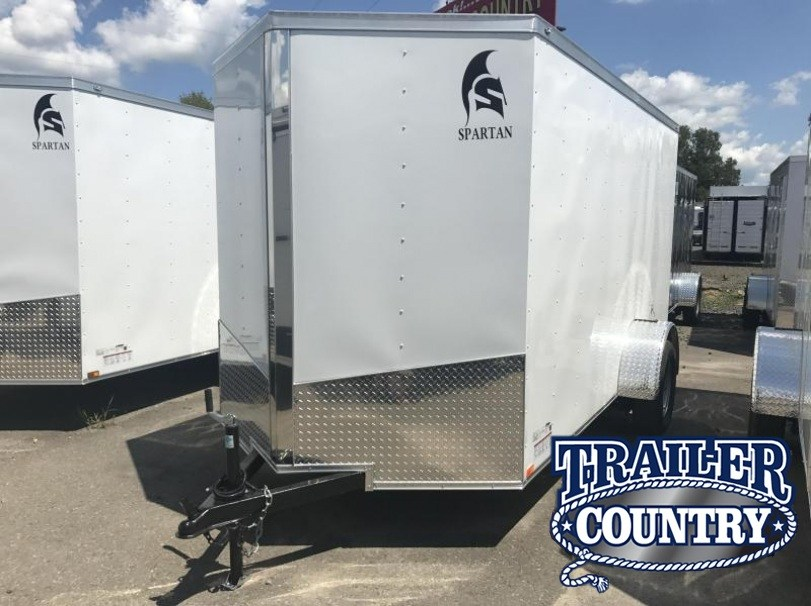 6x12 Enclosed Cargo Trailer-Double Doors-White