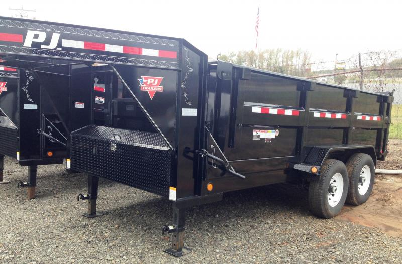 83X14 Gooseneck PJ High Side Dump-3' Sides-CLEARANCE