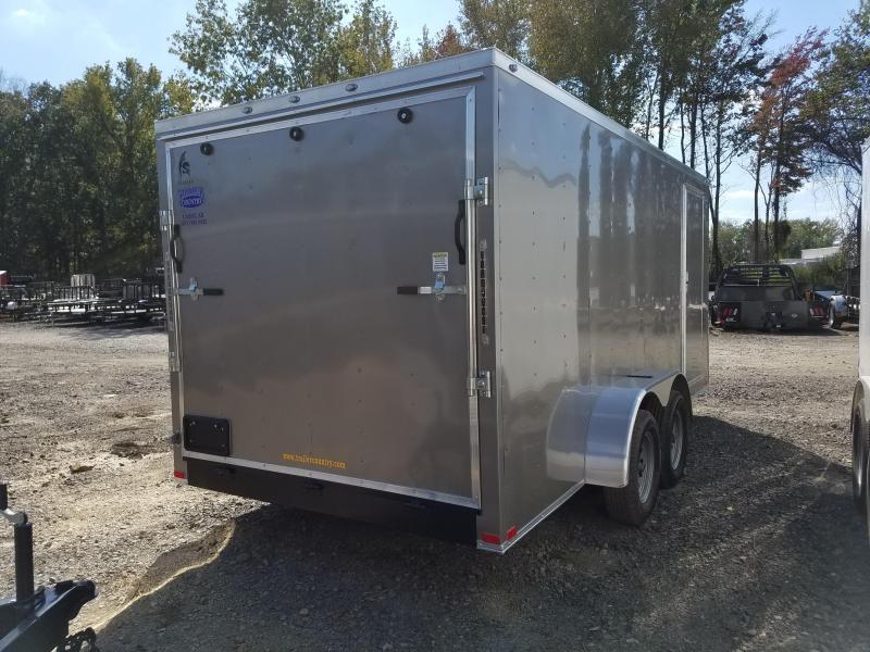 7x16 Enclosed Cargo Trailer-Ramp Door-Pewter