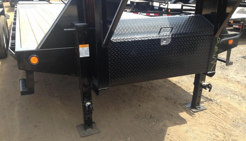 102x30 PJ Lo Pro Gooseneck Flatdeck with 10K Duals-Monster Ramps