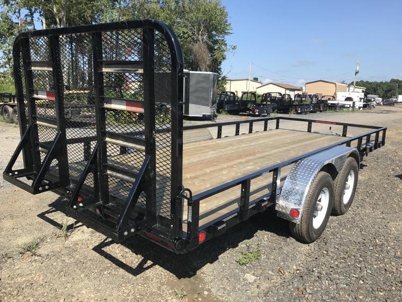 83x18 PJ Utility Trailer-5200lb Axles-HD Rear Gate