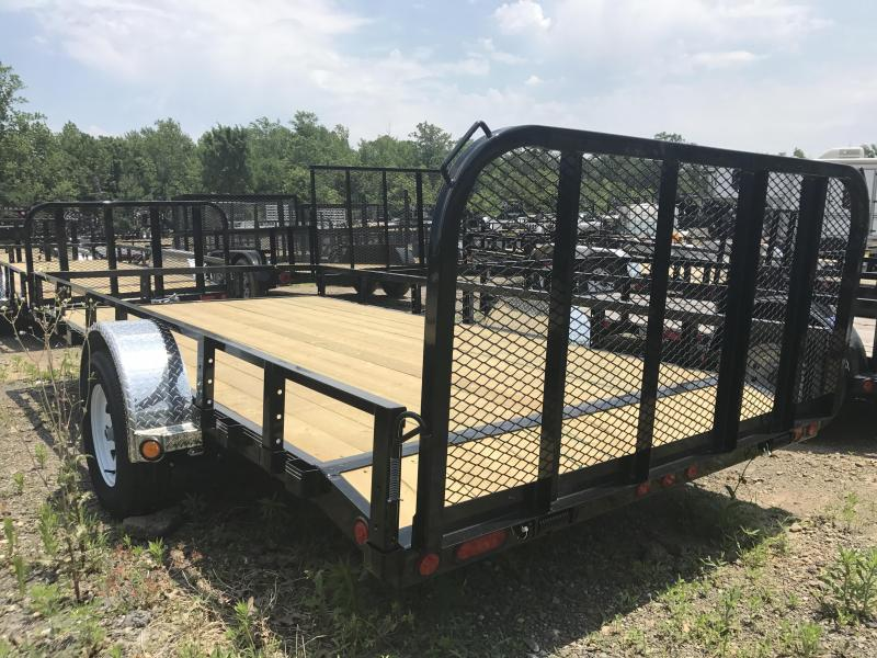 83x14 PJ Utility Trailer-2' Dovetail-Rear Gate
