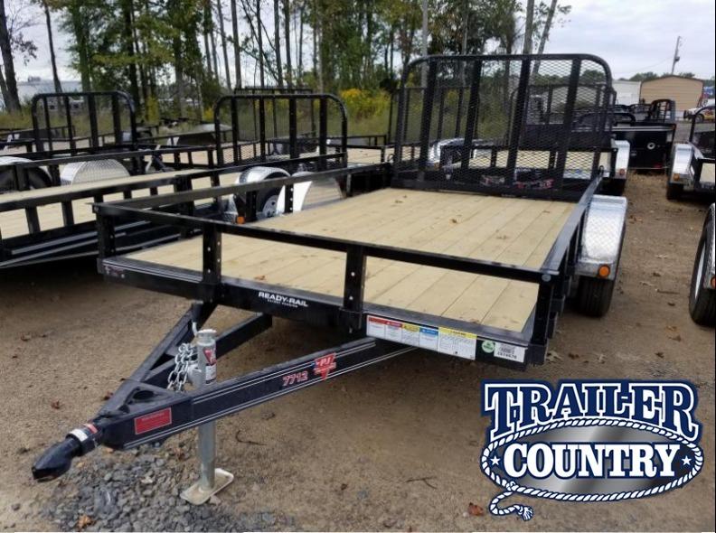 77x12 PJ Utility Trailer-Rear Gate-Channel Frame