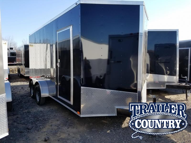 7x16 Enclosed Cargo Trailer-TA-3500lb Axles R& Door V-Nose & 7x16 Enclosed Cargo Trailer-TA-3500lb Axles Ramp Door V-Nose ...
