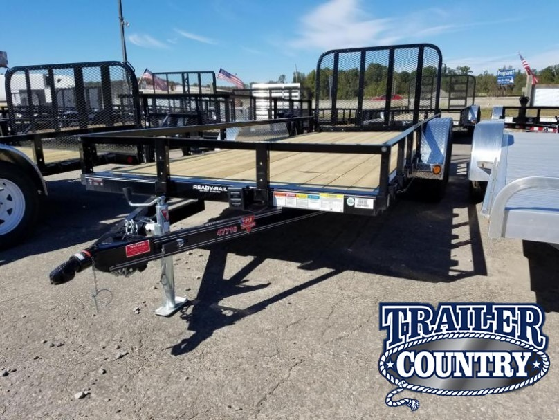 77x16 PJ Utility Trailer-Rear Gate