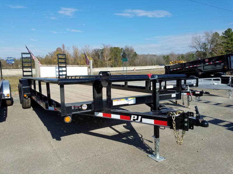 83x24 PJ Angle Pipetop 7K Axles Straight Deck Fold Up Ramps