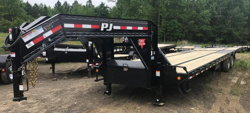 102x35 PJ Lo Pro Gooseneck Flatdeck Hydraulic Dovetail