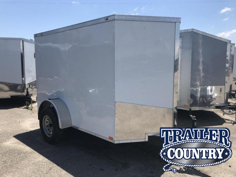 "5x8 Enclosed Cargo Trailer-Single Rear Door-5'6"" Height-CLEARANCE"
