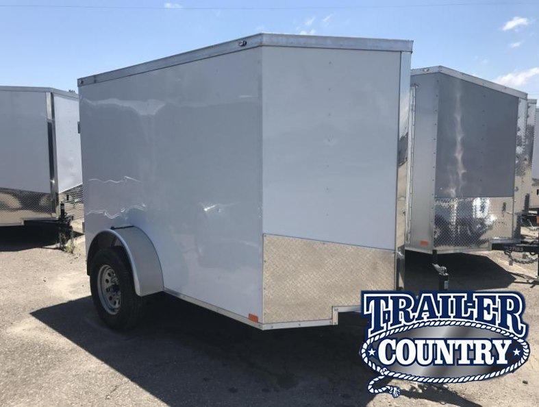 """5x8 Enclosed Cargo Trailer-Single Rear Door-5'6"""" Height"""