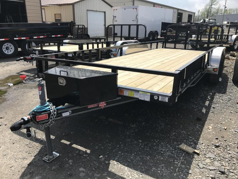 83x20 PJ Utility Trailer-Front Toolbox