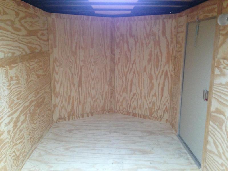7x14 Enclosed Cargo Trailer-Double Doors