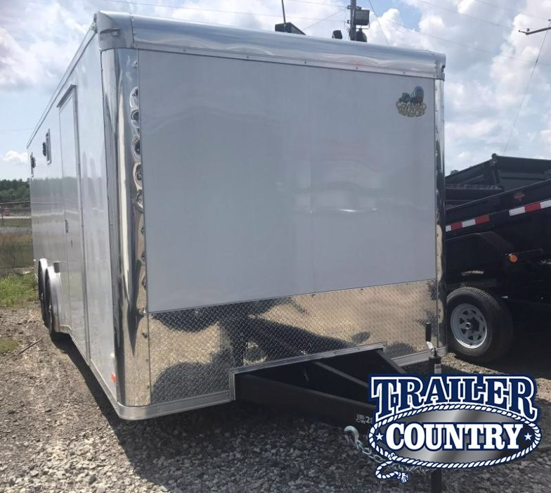 8.5x24 Enclosed Race Trailer-FULLY LOADED