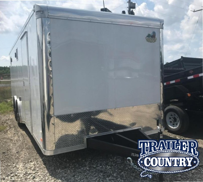 8.5x24 Enclosed Race Trailer-FULLY LOADED-CLEARANCE
