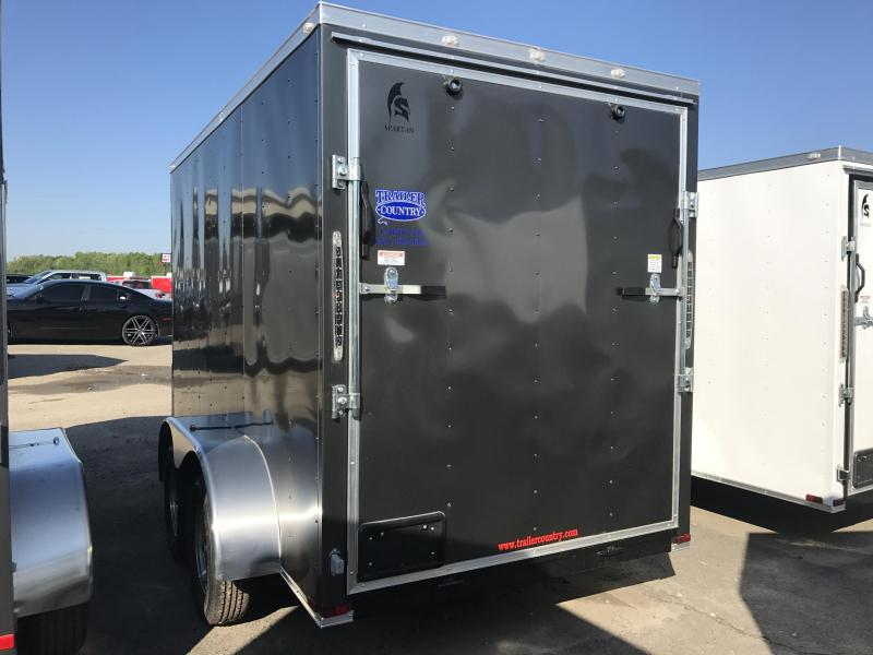 6x12 Tandem Axle Enclosed Cargo Trailer-Charcoal-6'6 Height-Ramp-CLEARANCE