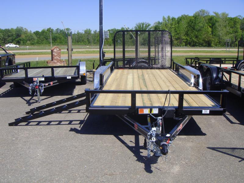 77x16 Utility Trailer Rear Gate and Side Ramps