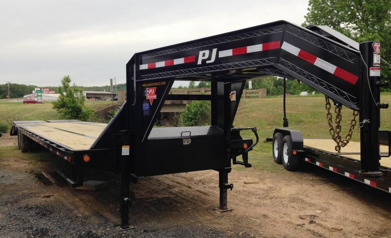 102x40 PJ Lo Pro Gooseneck Flatbed-Monster Ramps