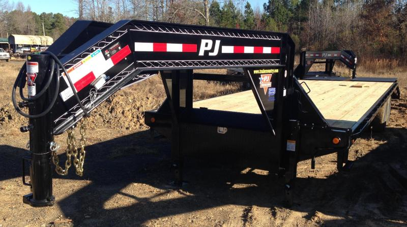 102x30 PJ Gooseneck Flatdeck with Monster Ramps